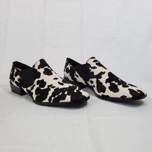 Calvin Klein Women's Geneve Loafer Black/White 10M